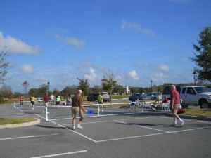 Pickleball parking lot