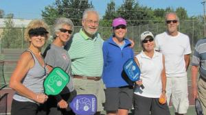 Dwight with some of his pickleball friends