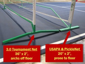 Pickleball net system bases