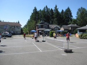 Cul de sac pickelball tournament