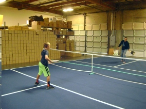 Mark and his son Mitch playing pickleball at PickleballCentral.com