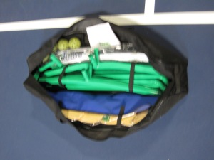 3.0 Tournament Net bag can hold 4 pickleballs and 4 paddles plus the entire net system