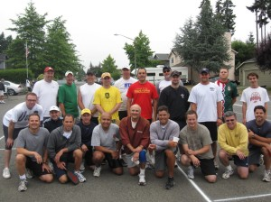 Neighborhood pickleball tournament