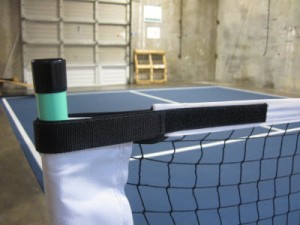 USAPA and PickleNet use Velcro to tighten the net