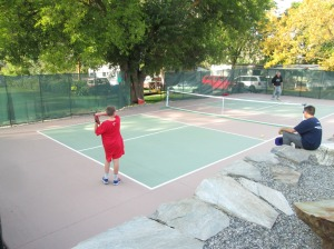 Robert's pickleball court