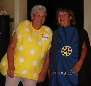Ms. Paddle and Ms. Pickleball
