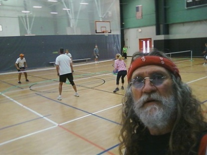 Brent Russell at the pickleball courts