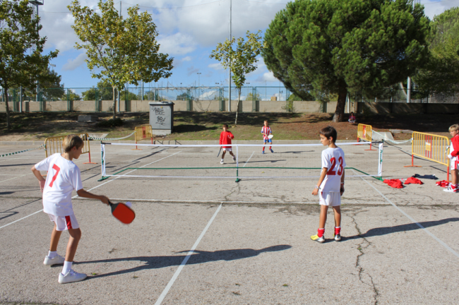 Playing pickleball in Spain