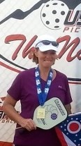 Marsha Koch at the 2013 National Pickleball Tournament in Surprize, AZ