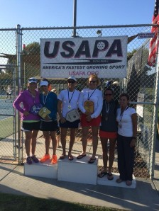 Marsh Koch taking silver at the 2014 Melba Bishop Classic with doubles partner Jessica LeMire.
