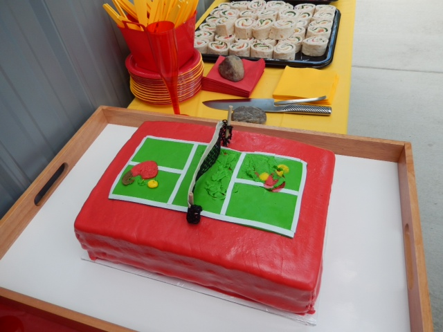 Pickleball Birthday Cake