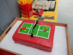 Pickleball Palace Cake