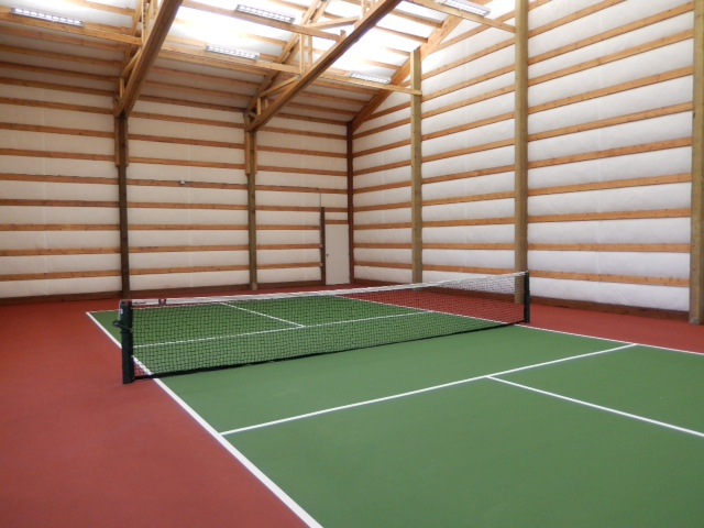 The pickleball palace a private indoor pickleball court for Indoor sport court dimensions