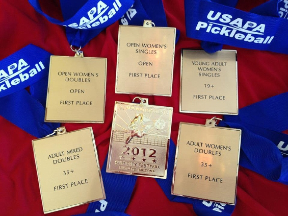 Lucore's Pickleball Medals