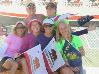 Joy Leising at Pickleball Nationals Doubles 2014