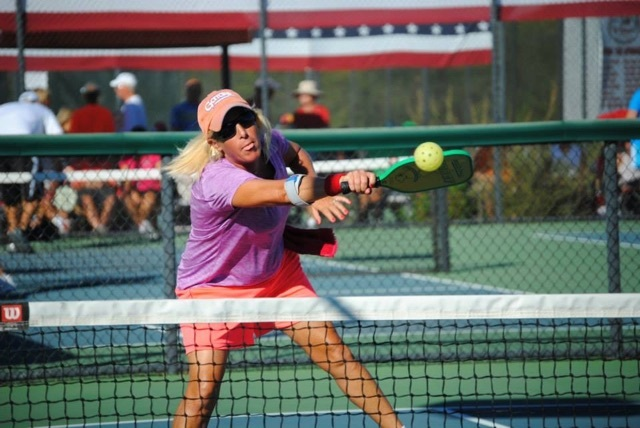 Lydia Willis playing pickleball