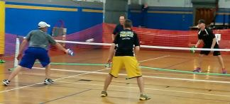 Playing pickleball