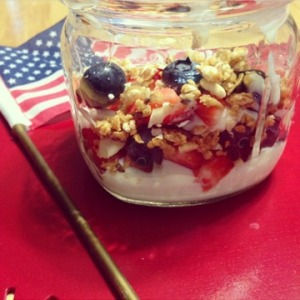 Granola mix with yogurt