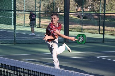 Joshua Wright playing Pickleball