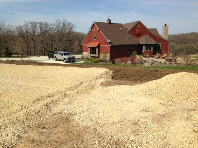Building a pickleball court in New Glarus