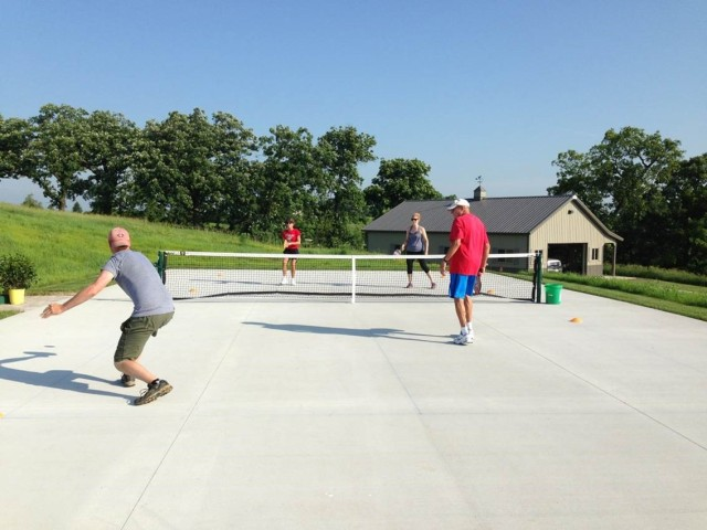 Completed pickleball court