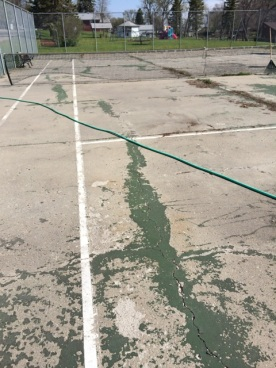 "Pickleball court ""before"""
