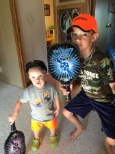 Pickleball players in training