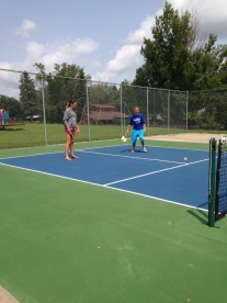 A beautiful new pickleball court