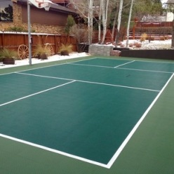 Sunken pickleball court