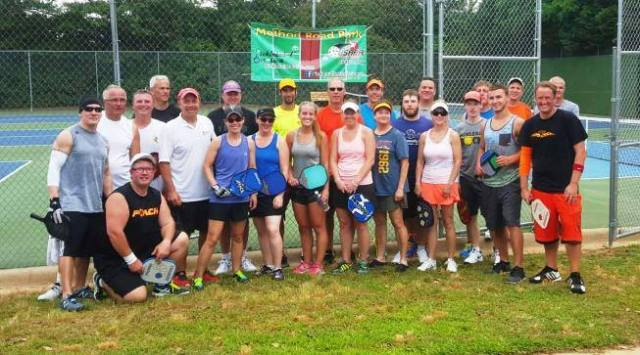 Pickleball in the Triangle players