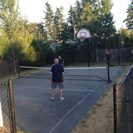 Converted pickleball court