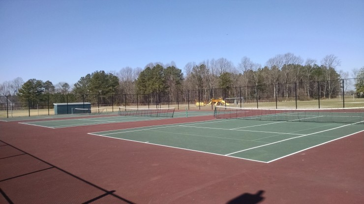 Tennis courts before pickleball took over