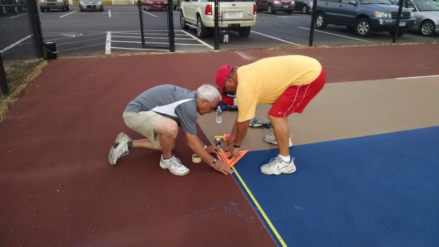 Aligning pickleball courts