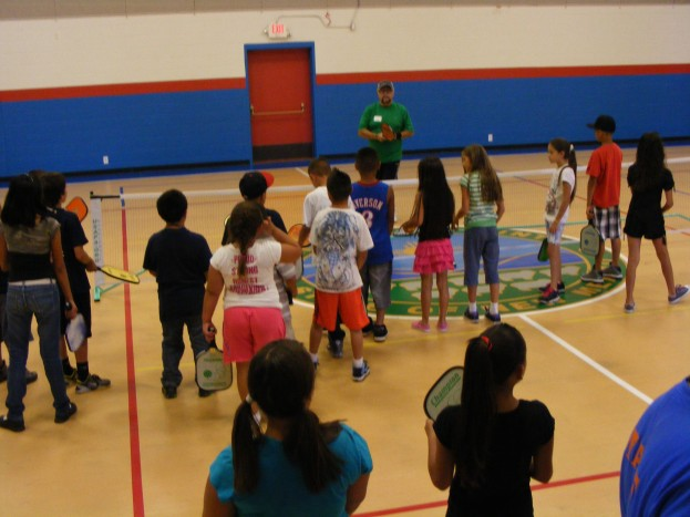 Ray Teaching Pickleball at a Summer Rec Program