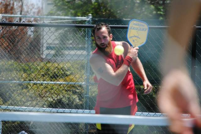 Brian Ashworth playing pickleball