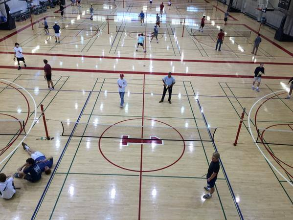 Intramural pickleball at Okalahoma University