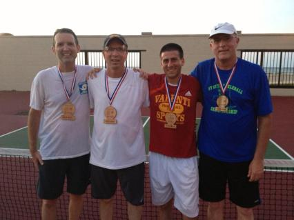 Ken Curry and brother Dan, Gold medal win in men's open doubles over Duane Fregoe and Joe Valenti