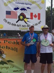 USAPA Great Plain Regional Pickleball Tournament Colorado Springs CO Mens Doubles Skill 5.0 Age 60+ 5.0 GOLD LeRoy Schmidt and his partner Ken Curry Great job!!