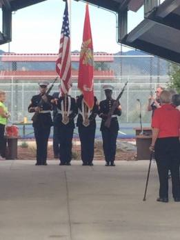 Marine Honor Guard at the Pickleball for Heroes Tournament