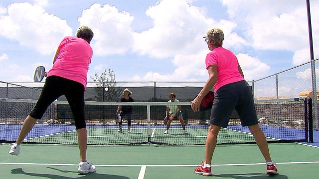 Women's Doubles at Apex Center in Arvada Colorado Photo Credit: CBSDENVER