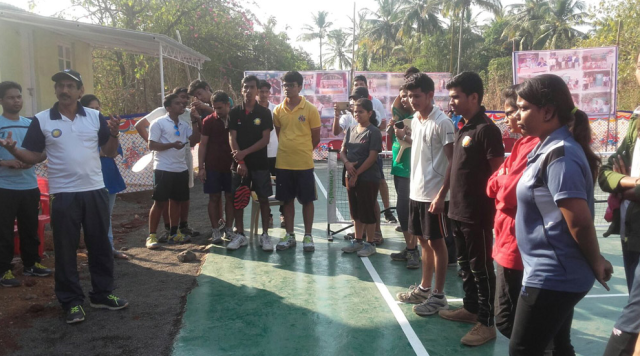 Sunil at the opening of AIPA's second dedicated pickleball court
