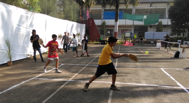 Kids playing pickleball in Navi Mumbai
