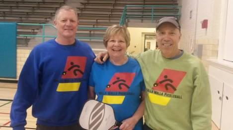 Pickleball Training at the YMCA - Ted Cummings, Susan Anfinson and Dave Gibson