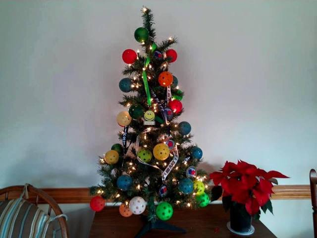 ...or a Tree Decorated with Pickleballs!