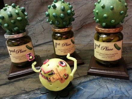 Trophies for Pickleball Tournaments (Painted Pickleballs)
