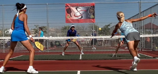 Returning a pickleball