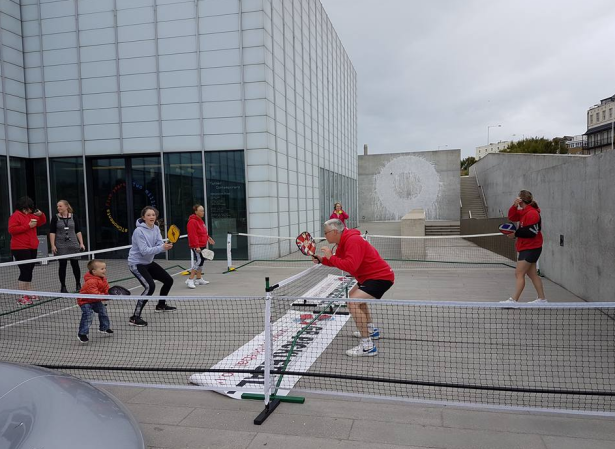 GB Pickleball giving a demo at Turner Contemporary