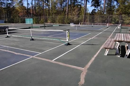 Oyster Bay courts before...