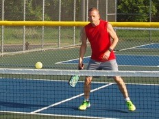 Tracy on the pickleball court