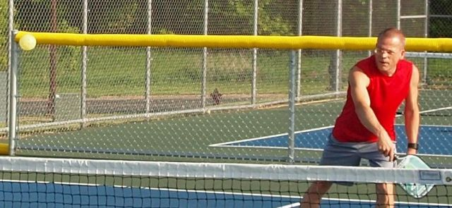 Tracy playing pickleball